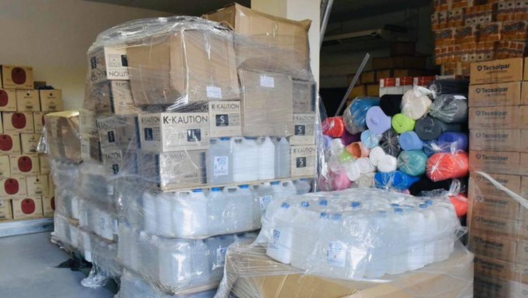 Il materiale donato da Lautaro Martinez agli ospedali di Bahia Blanca
