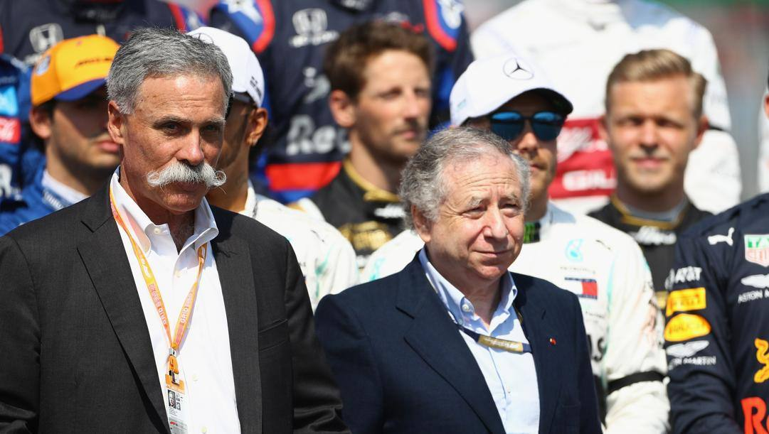 Chase Carey (Liberty Media) e Jean Todt (n° 1 Fia).