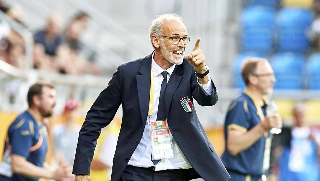 Paolo Nicolato, 53 anni, ct. delll'Under 21. Epa