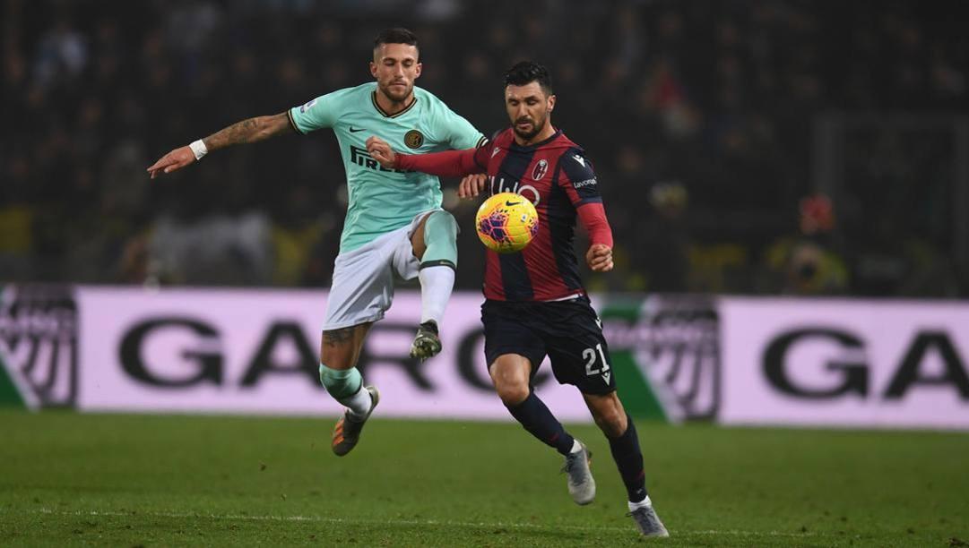 Roberto Soriano, 29 anni, in azione contro l'Inter. Getty