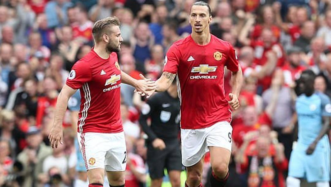 Shaw con Ibra allo United