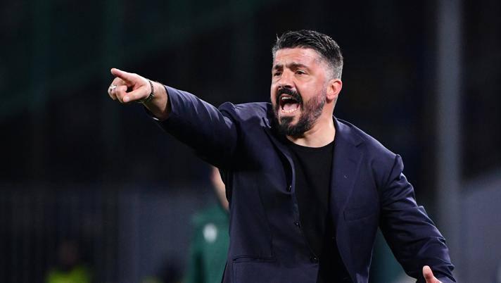 Gennaro Gattuso, allenatore del Napoli. Lapresse