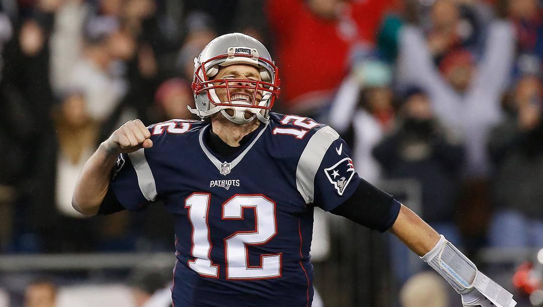 Tom Brady, 42 anni, ex quarterback dei Patriots. Afp