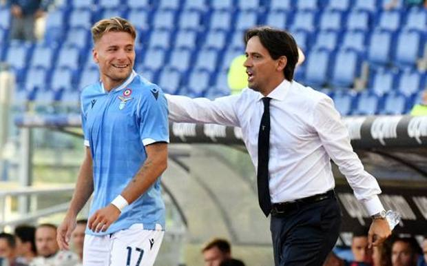 Simone Inzaghi con Ciro Immobile. Getty Images