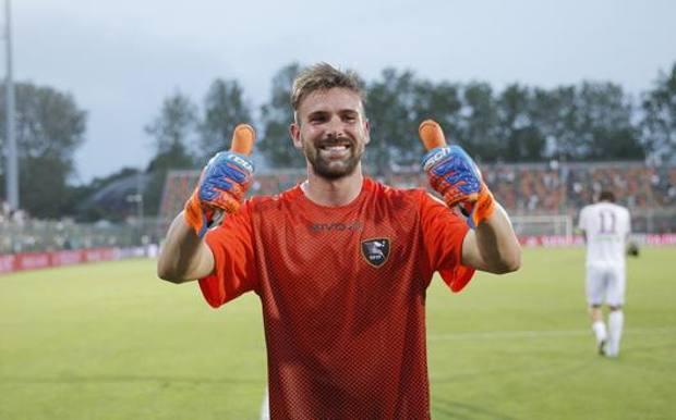 Il portiere Alessandro Micai, 26 anni, seconda stagione alla Salernitana LAPRESSE