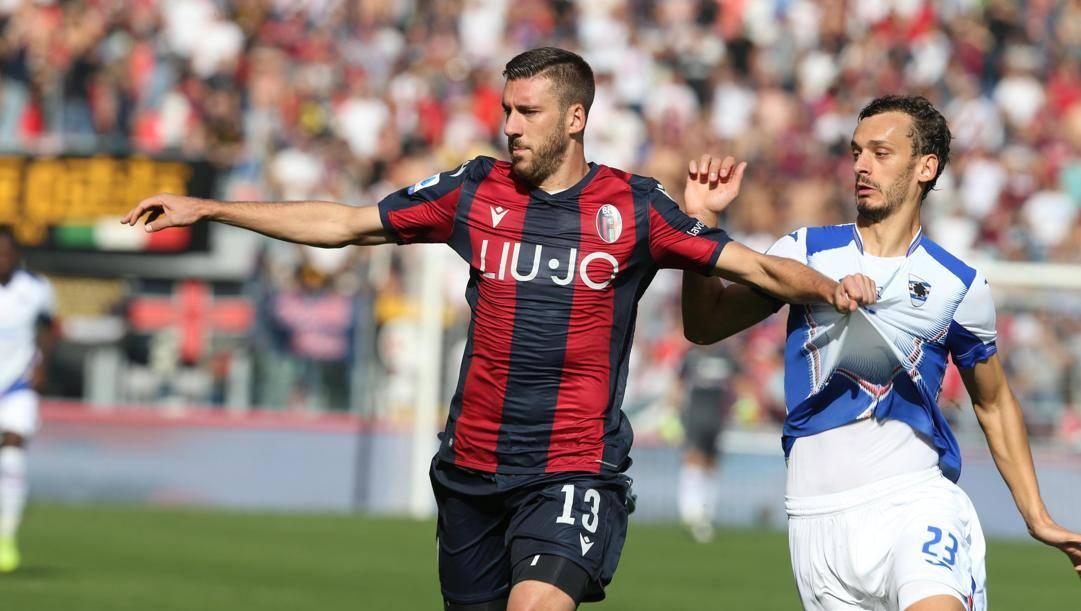 Mattia Bani, difensore-goleador del Bologna di Mihajlovic. Ansa