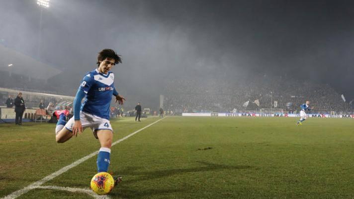 Sandro Tonali, centrocampista classe 2000 del Brescia. Ansa