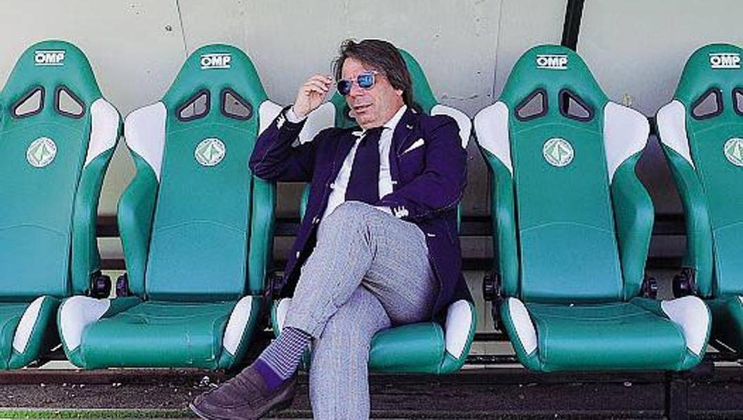 Eziolino Capuano, 55 anni, allenatore dell'Avellino. Lapresse