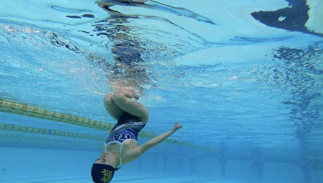 Arianna Sacripante in piscina. AP