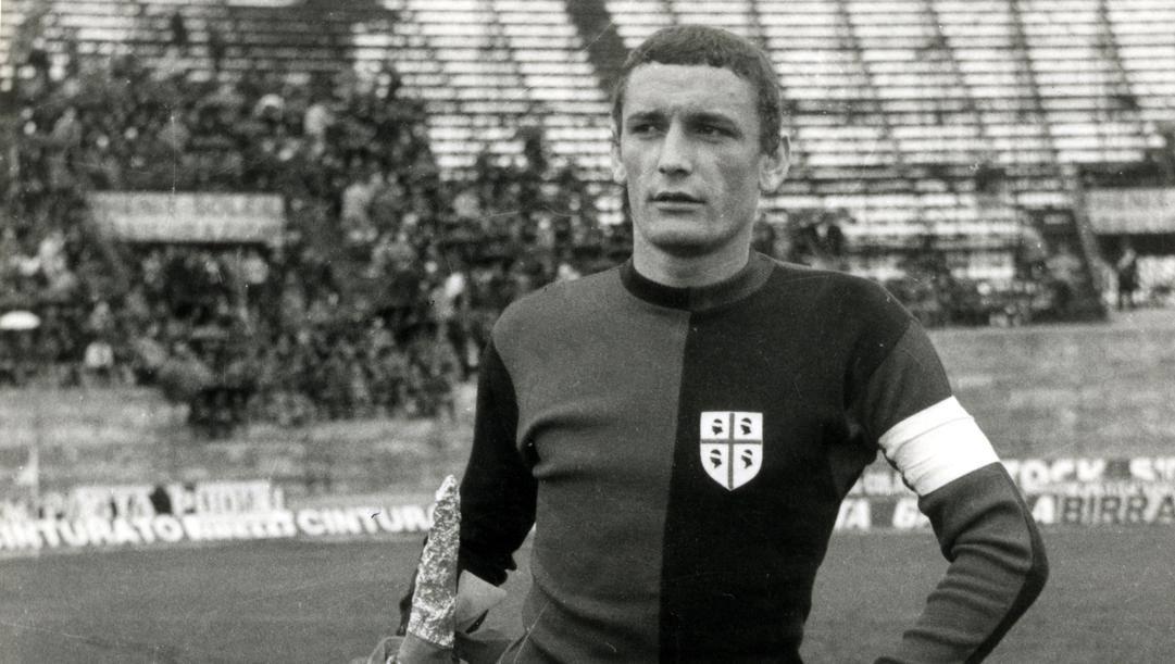 Gigi Riva, simbolo del Cagliari anni Sessanta e Settanta. Aldo Liverani