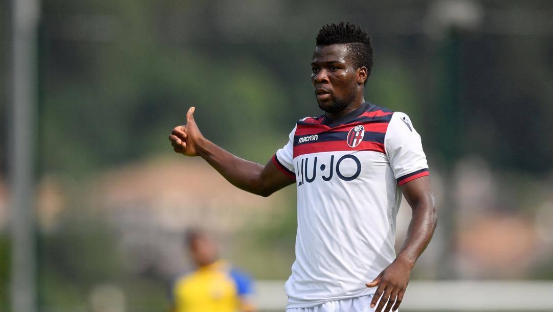 Godfred Donsah, centrocampista del Bologna in prestito al Cercle Brugge. Lapresse
