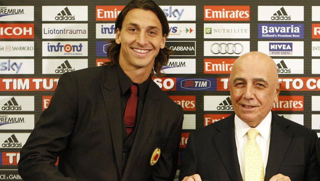 Galliani con Ibra ai tempi del Milan. Ap