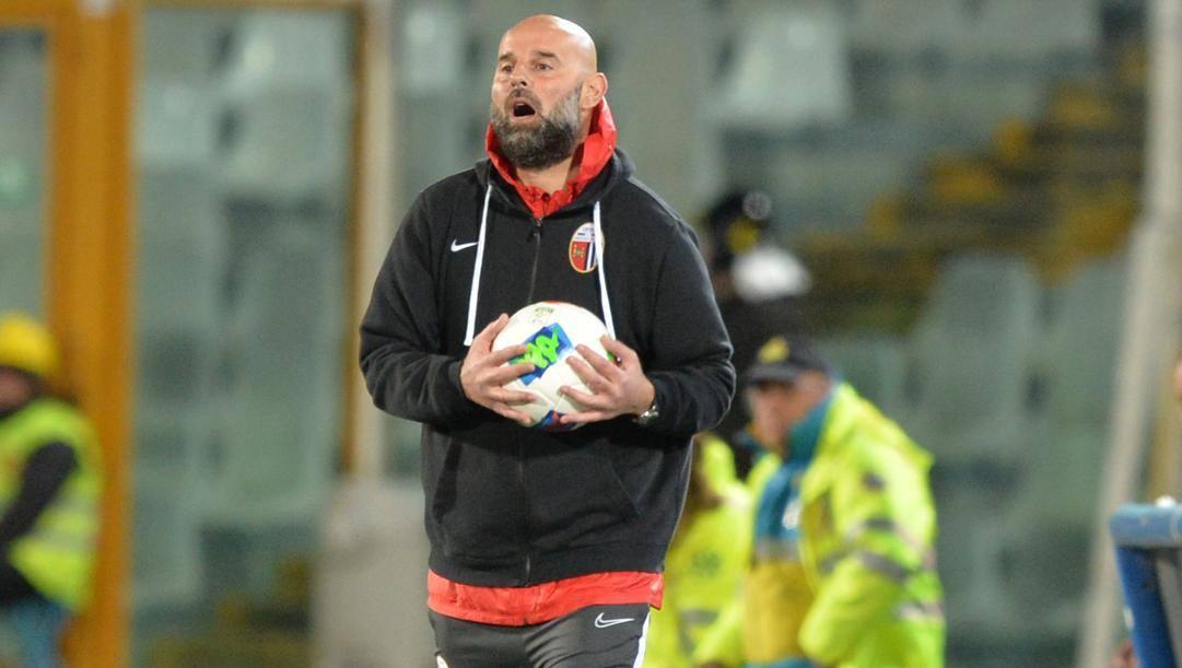 Roberto Stellone, allenatore dell'Ascoli licenziato da qualche giorno. Lapresse