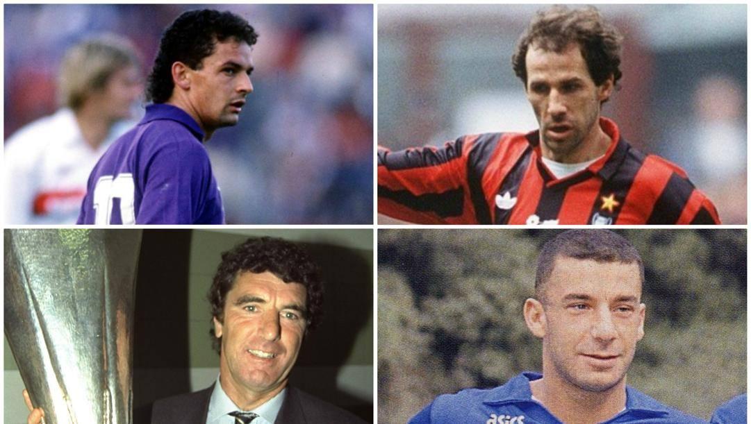 Dall'alto: Roberto Baggio, Franco Baresi, Dino Zoff e Gianluca Vialli.