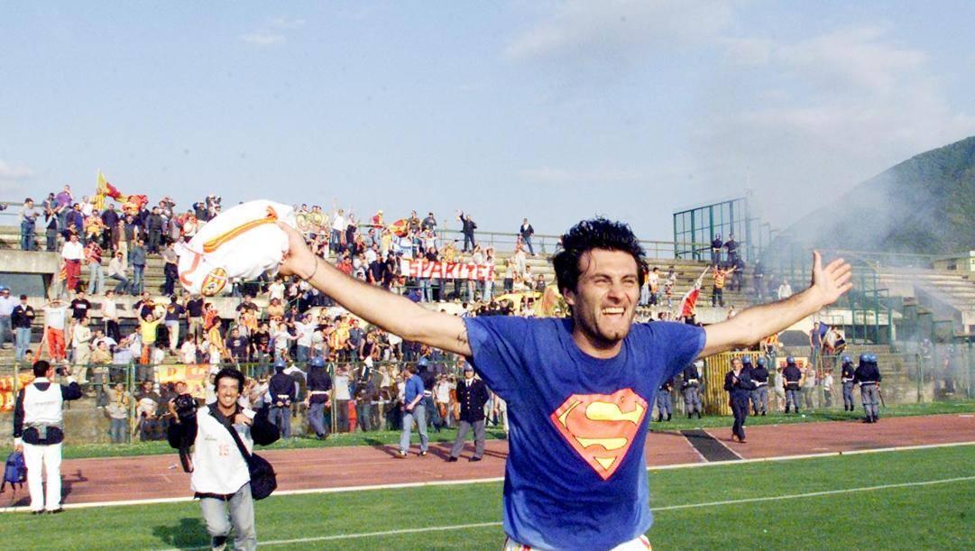 Sossio Aruta, classe 1970, ai tempi del Benevento. Cuomo