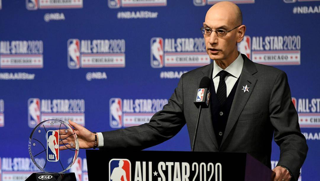 Adam Silver, commissioner Nba dal 2014. Afp