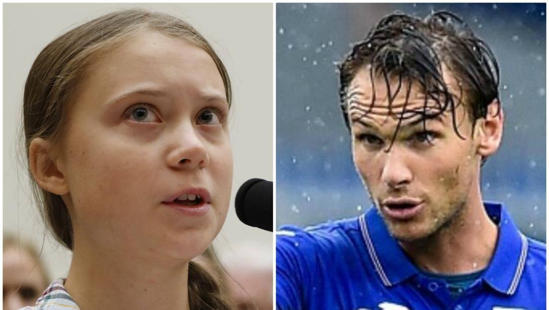 Greta Thunberg e Albin Ekdal.