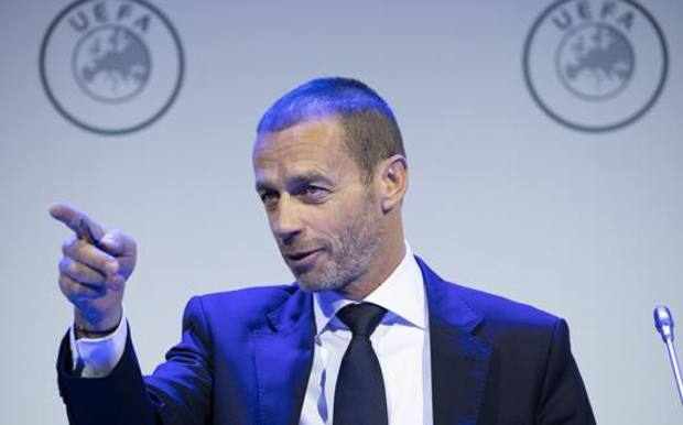 Il presidente Uefa Ceferin. Ap