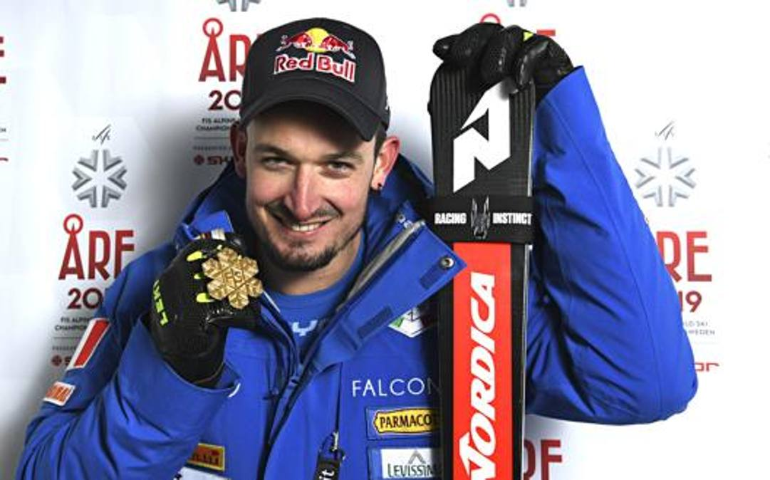 Dominik Paris, 31 anni, oro iridato in superG. Getty