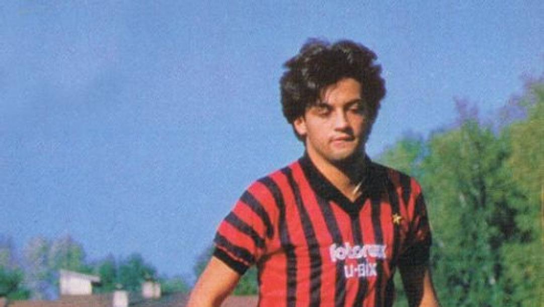 Marco Macina ai tempi del Milan
