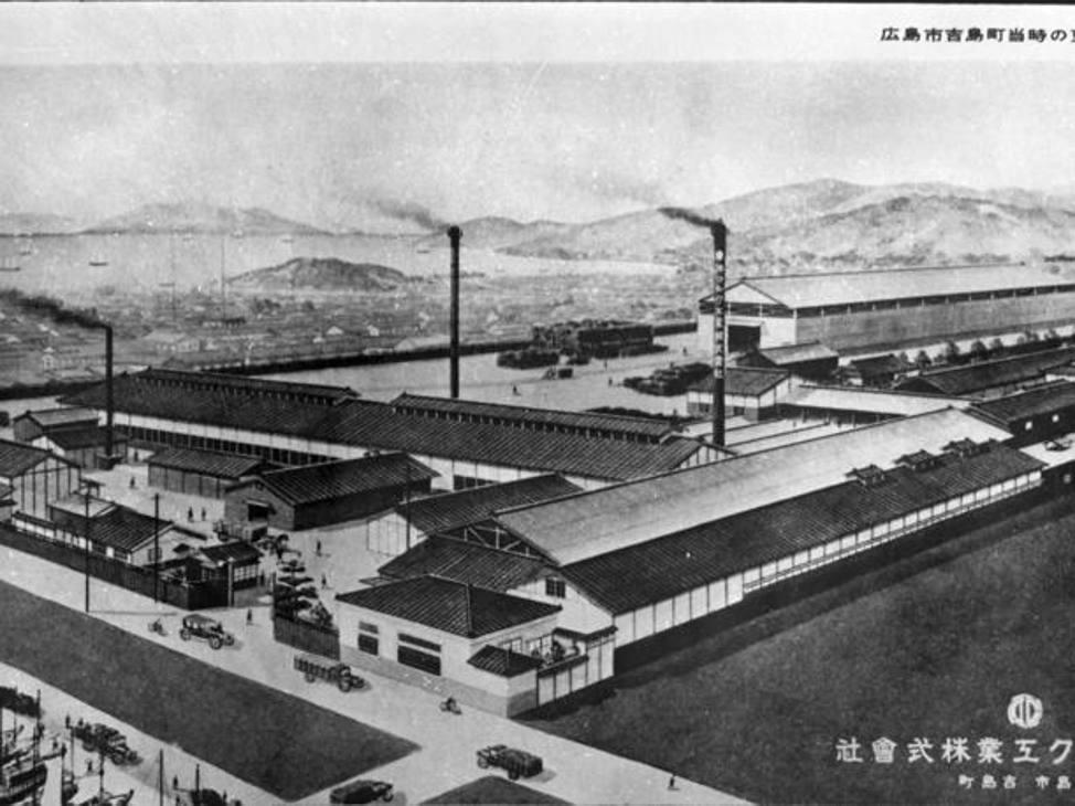 La sede della Toyo Cork Kogyo Co a Hiroshima nel 1920, il nucleo originale di Mazda