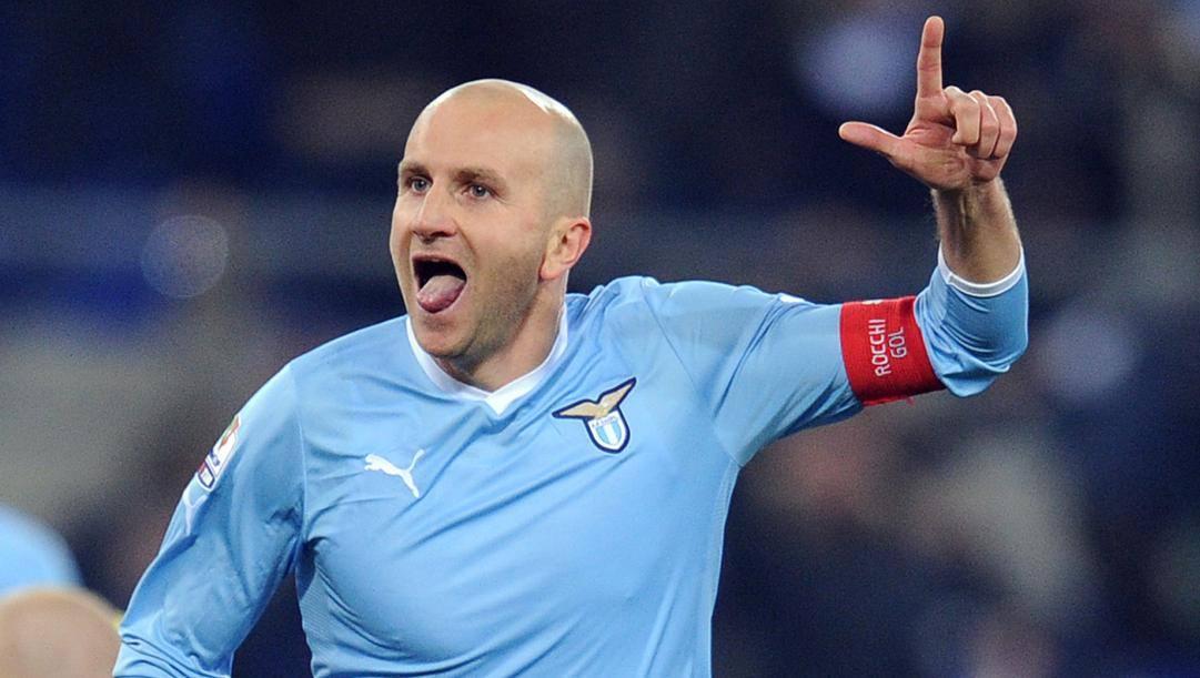 Tommaso Rocchi, 42 anni, in campo con la Lazio dal 2004 al 2013.Ansa