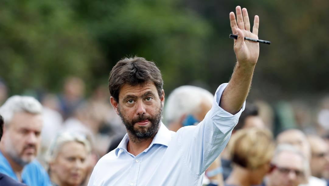 Il presidente della Juve Andrea Agnelli, oggi 44 anni