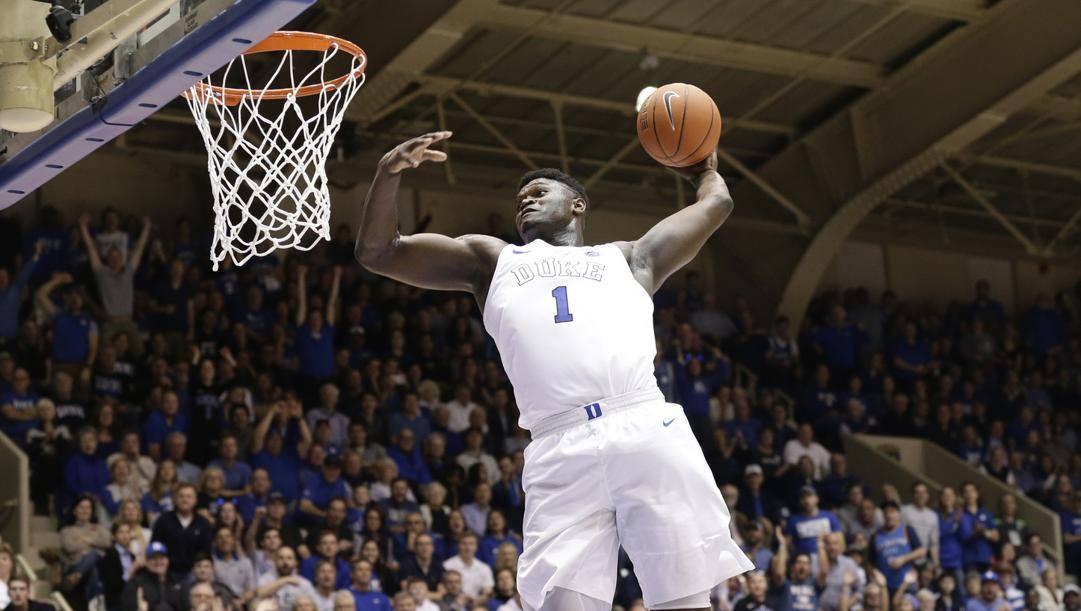 Zion Williamson ha giocato un anno a Duke prima di entrare in Nba come prima scelta al draft 2019. Ap