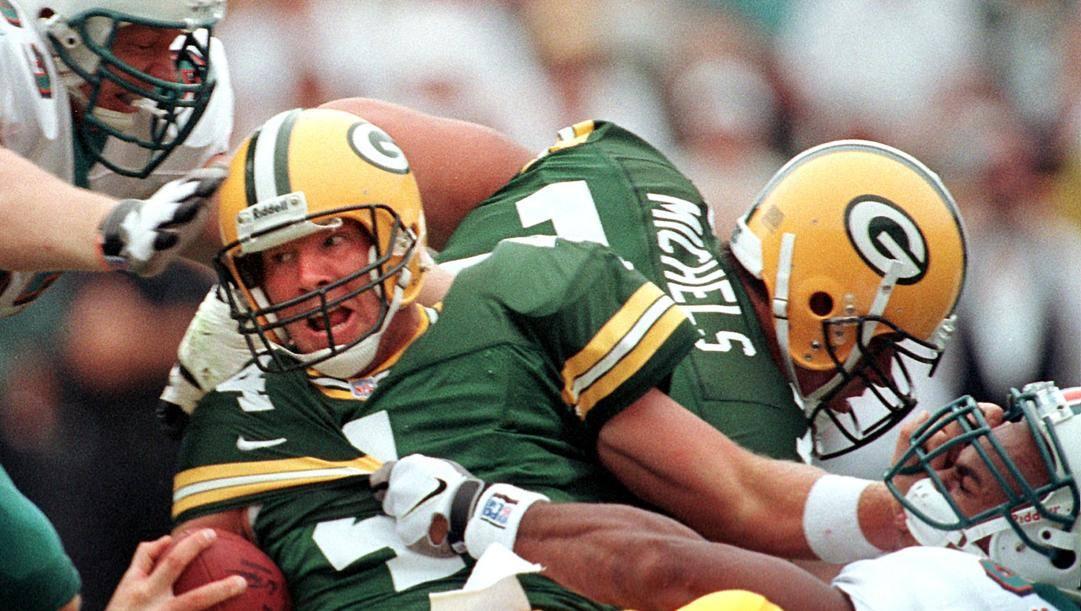 Brett Favre, ha vinto il Super Bowl numero 31 con Green Bay Afp