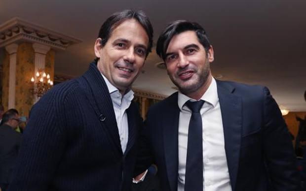 Simone Inzaghi e Paulo Fonseca, pronti a ripartire da lunedì. Getty