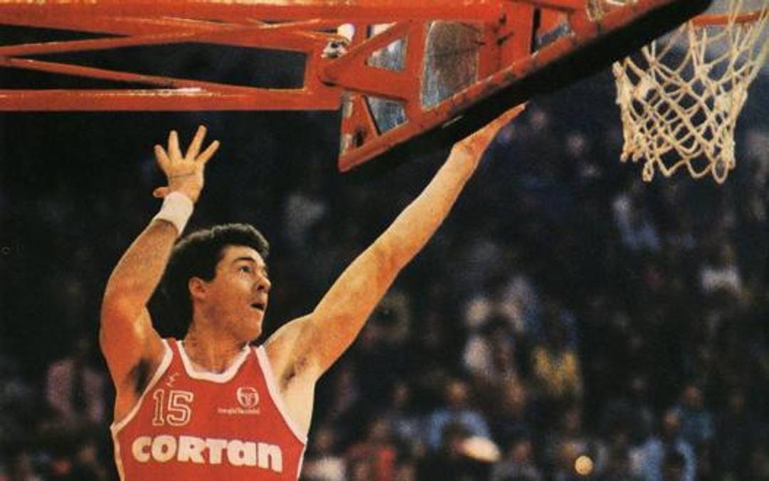 McNamara in maglia Cortan Livorno nel 1986