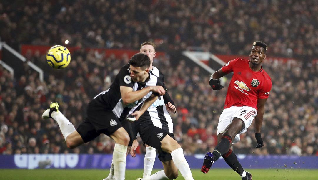 Paul Pogba, 27 anni, con la maglia del Manchester Uinted. Getty