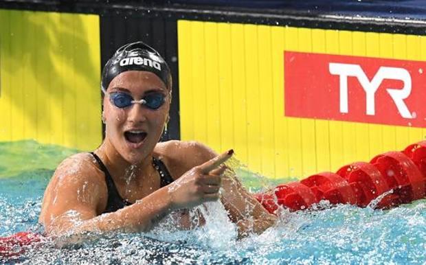 Simona Quadarella, campionessa mondiale dei 1500. Getty