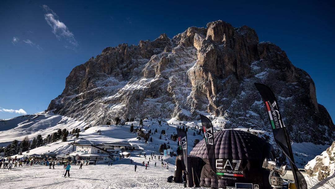 Lo splendido scenario delle Dolomiti