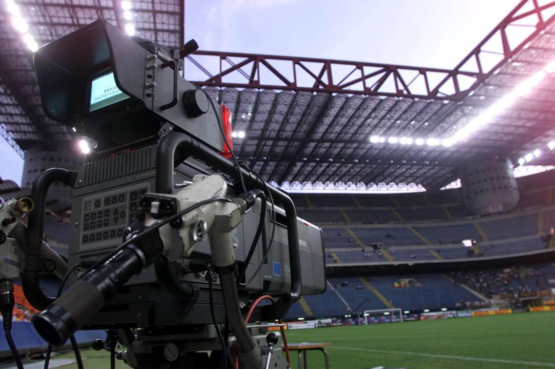 Una veduta dell'interno dello stadio Meazza di Milano. Ansa