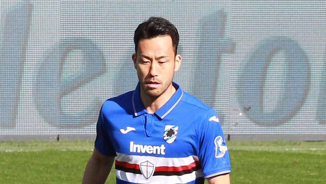 Maya Yoshida, difensore giapponese della Sampdoria. Lapresse