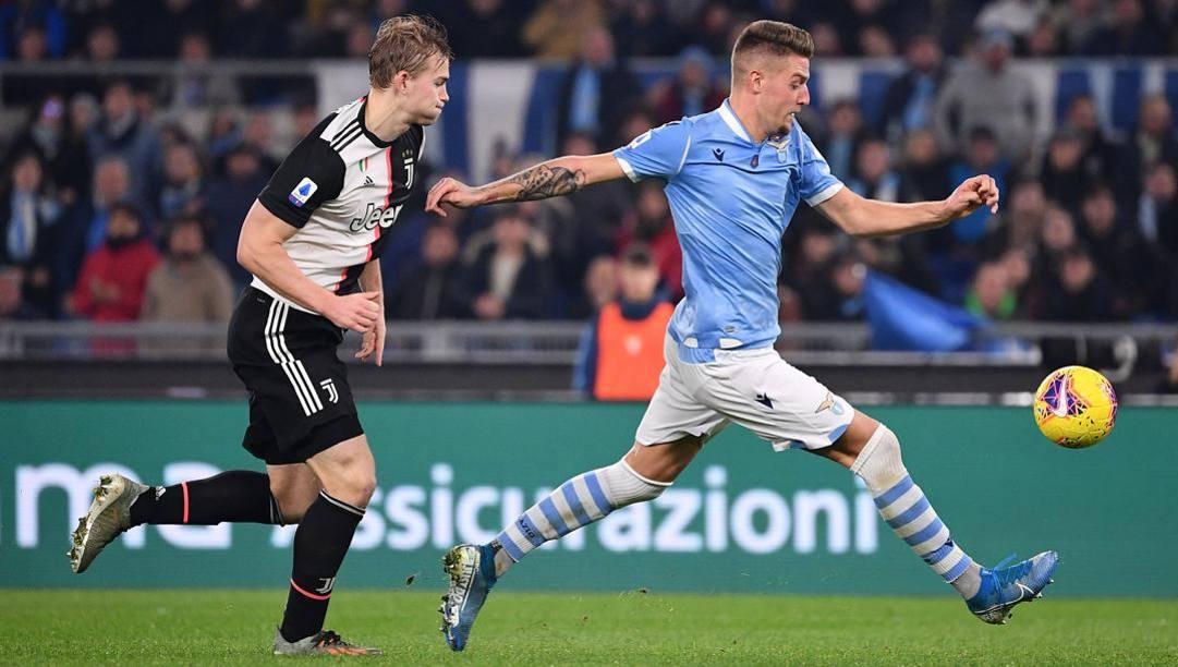 Il big match vinto dalal Lazio sulla Juve. LaPresse