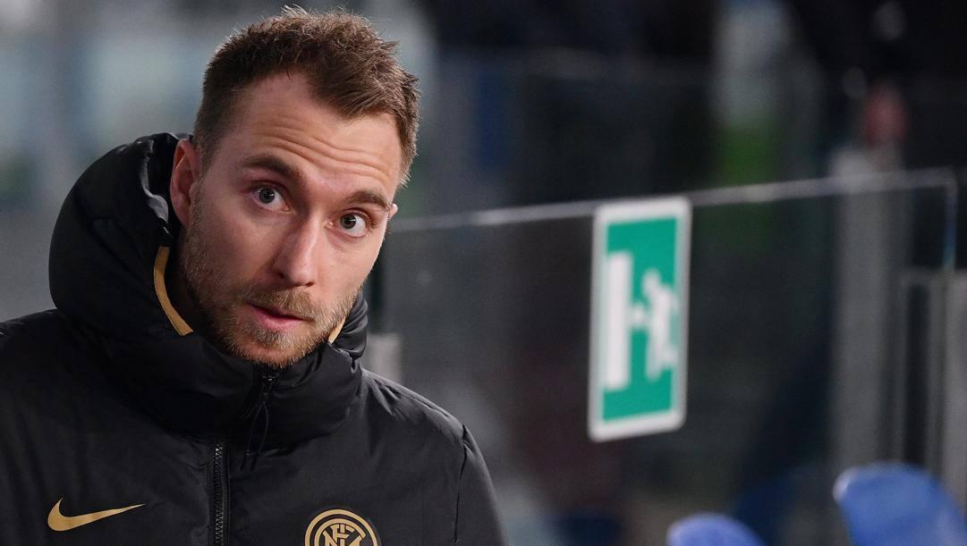 Il centrocampista dell'Inter Cristian Eriksen, 28 anni. LaPresse