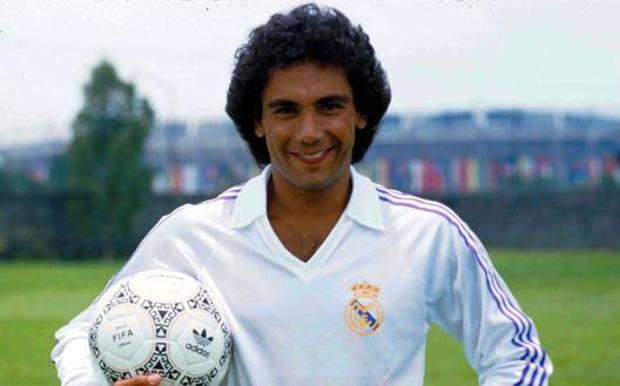 Hugo Sanchez nel 1990 a Madrid col Real a 32 anni