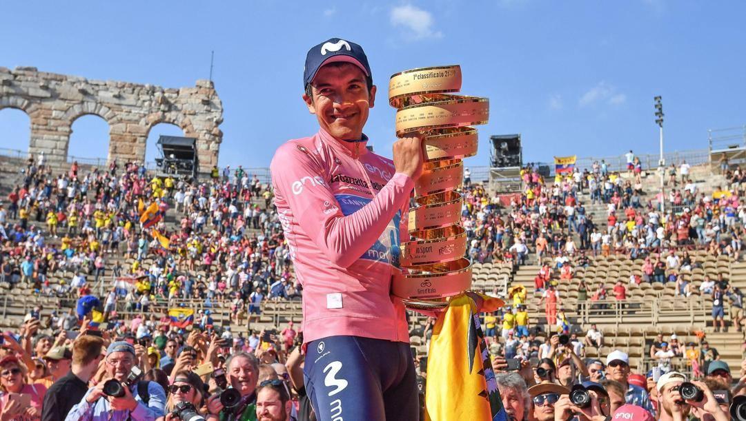 Richard Carapaz, re del Giro 2019. ANSA