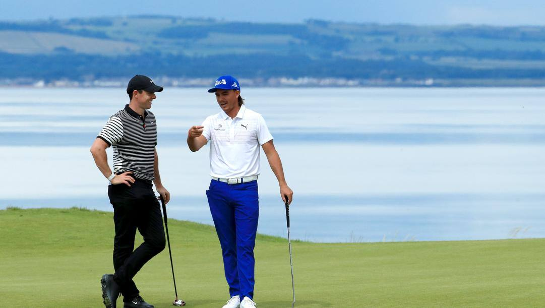 Rory McIlroy con Rickie Fowler. Getty