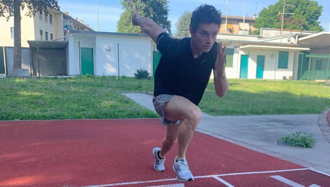 Filippo Tortu, 21 anni, al campo di allenamento di Giussano. Ansa