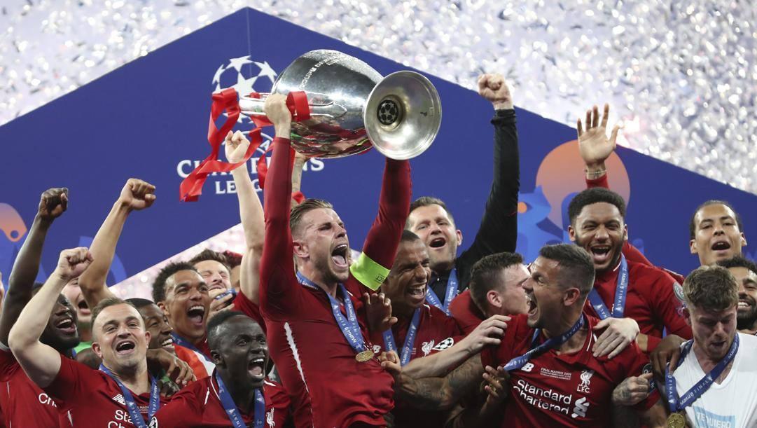 La festa 2019 del Liverpool. Ap
