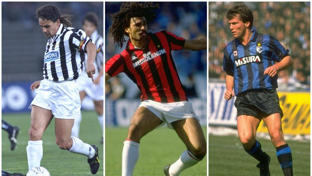 Baggio, Gullit e Matthaus.