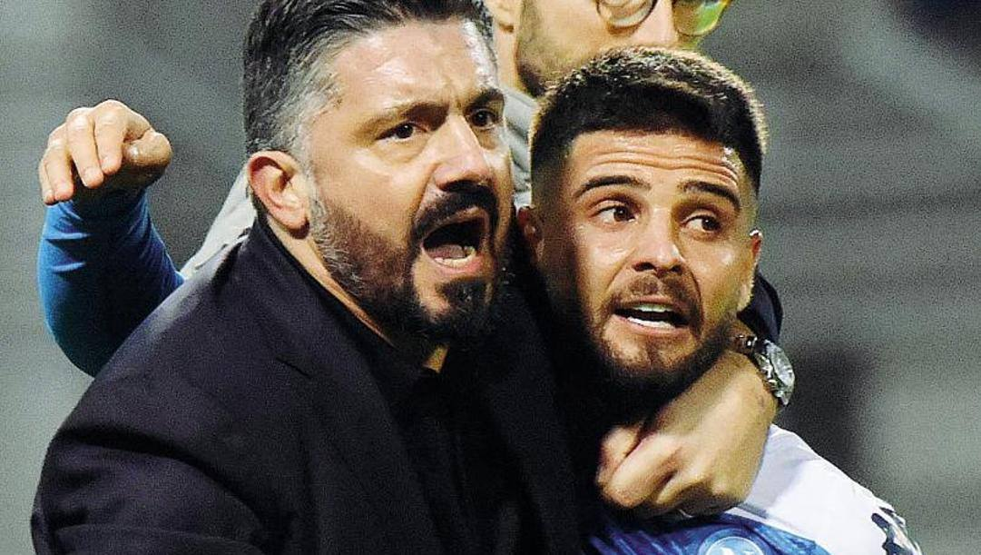 Gennaro Gattuso, 42 anni, e Lorenzo Insigne, 28