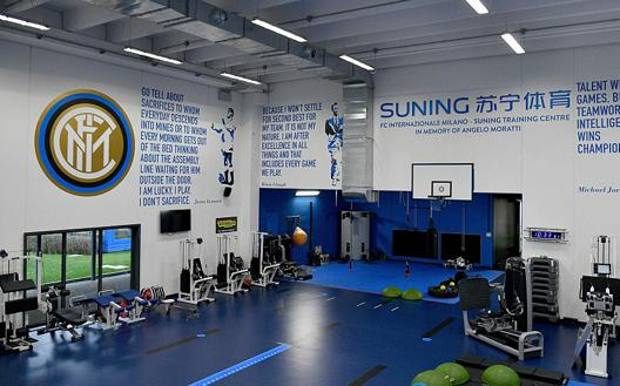 Una visuale della palestra del Suning Training Center GETTY IMAGES