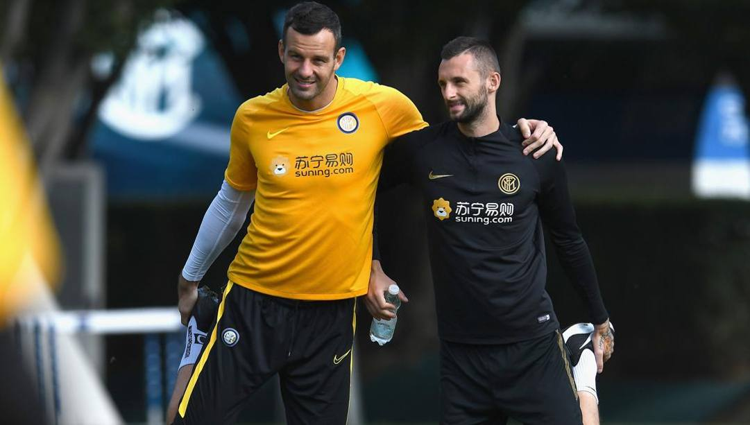 Samir Handanovic e Marcelo Brozovic. GETTY