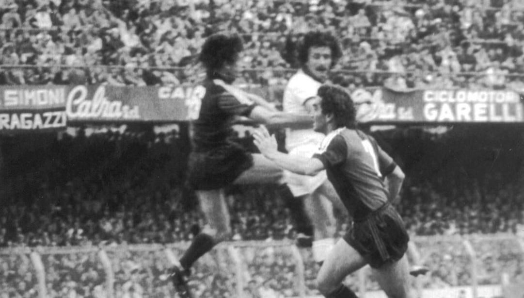 8 maggio 1983: Roberto Pruzzo segna con un colpo di testa il momentaneo  0-1 di Genoa-Roma che cuce lo scudetto sul petto dei giallorossi
