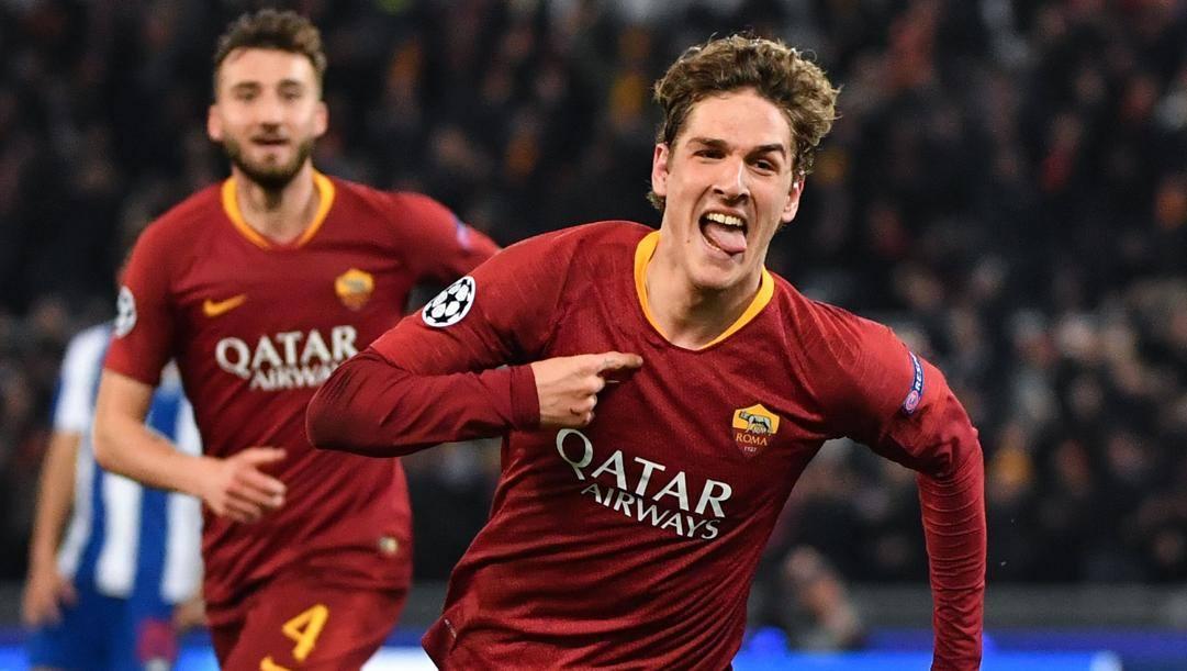 Nicolò Zaniolo, 20 anni, attaccante della Roma. Afp