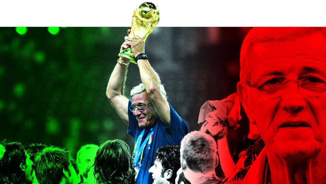 Marcello Lippi, il c.t. della nazionale campione del mondo 2006.